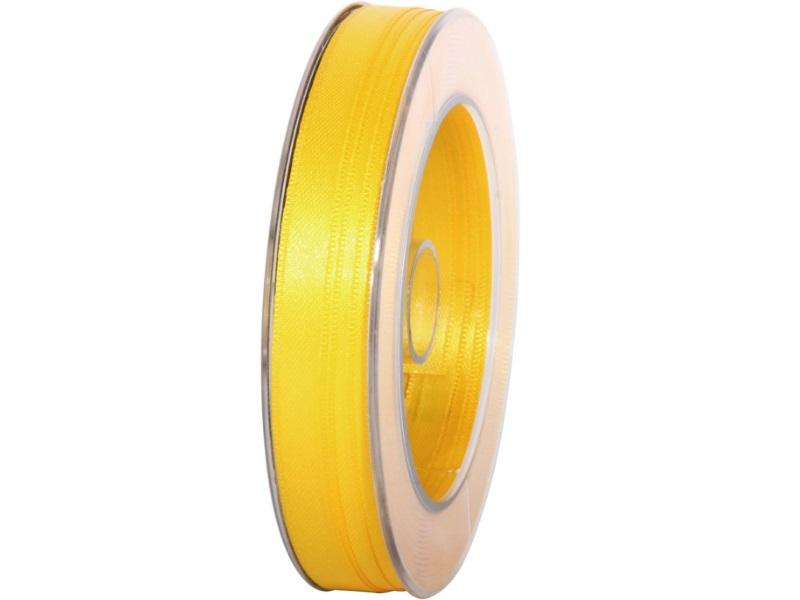 Satinband - Dekoband Geschenkband - Länge 25m x  10mm Gelb