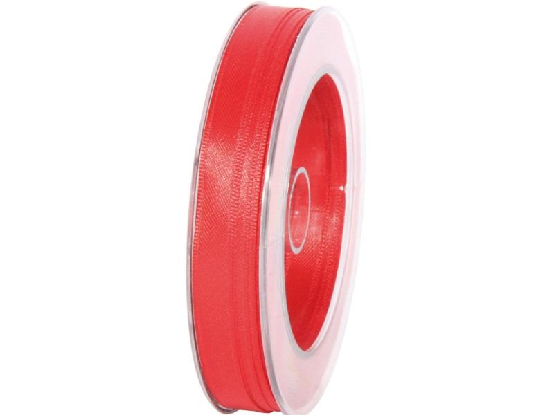 Satinband - Dekoband Geschenkband - Länge 25m x  10mm Rot