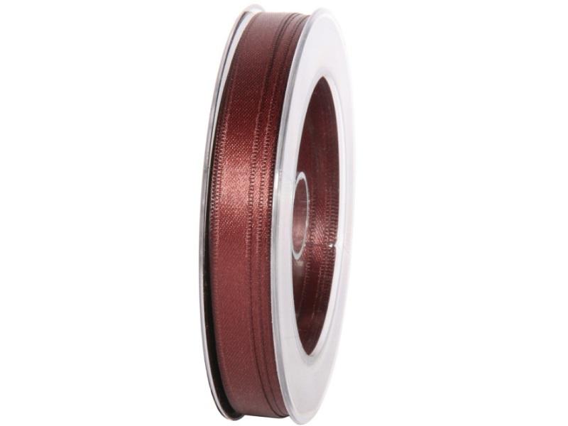 Satinband - Dekoband Geschenkband - Länge 25m x  10mm Braun
