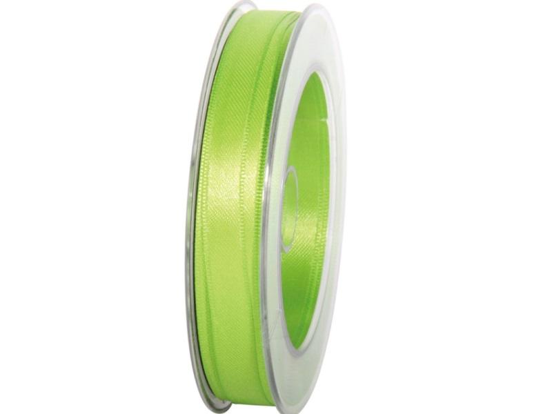 Satinband - Dekoband Geschenkband - Länge 25m x  10mm Apfelgrün