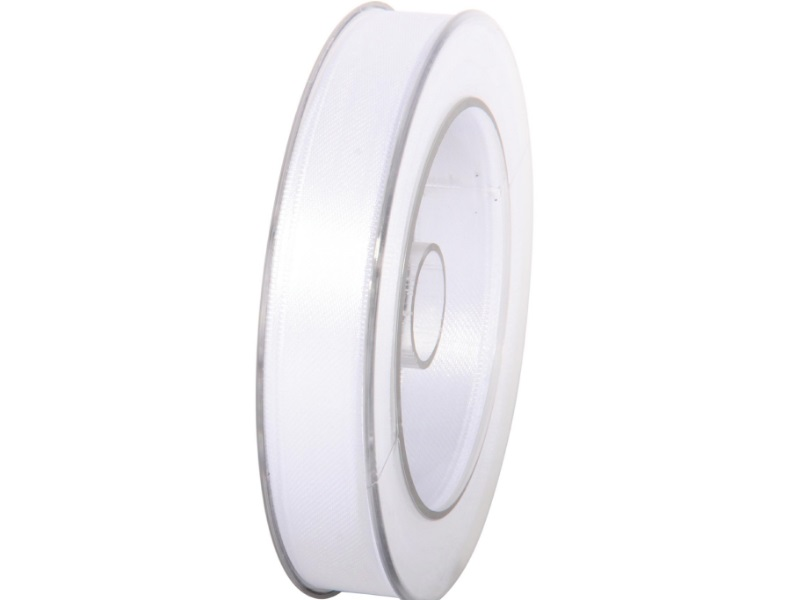Satinband - Dekoband Geschenkband - Länge 25m x 15mm Weiss