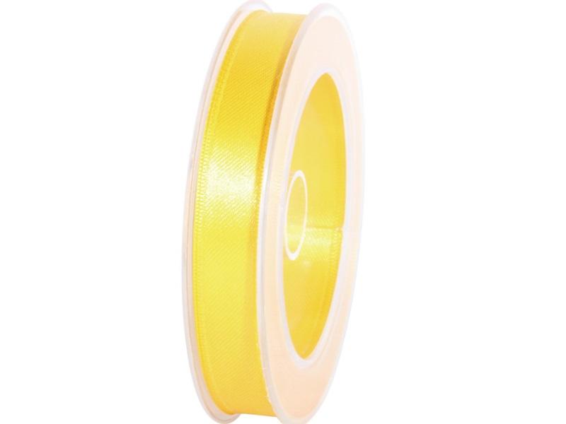 Satinband - Dekoband Geschenkband - Länge 25m x 15mm Gelb