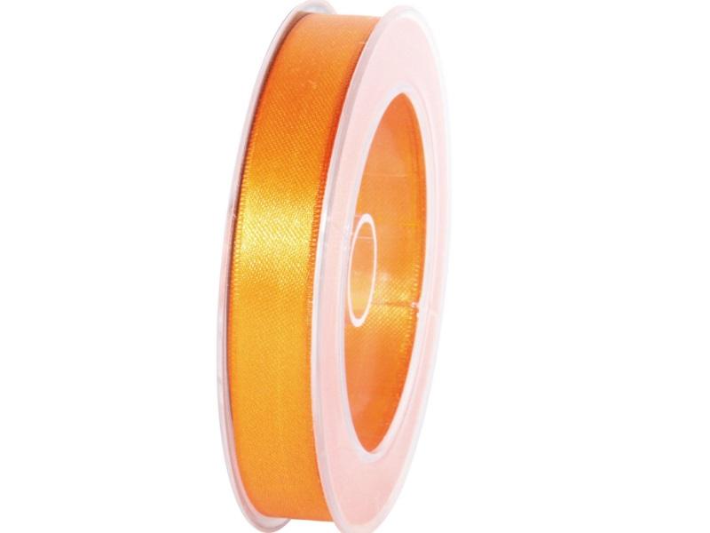 Satinband - Dekoband Geschenkband - Länge 25m x 15mm Orange
