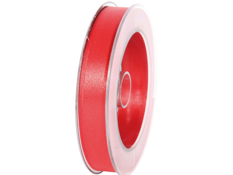 Satinband - Dekoband Geschenkband - Länge 25m x 15mm Rot