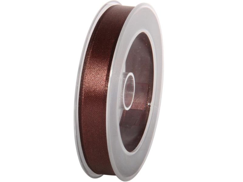 Satinband - Dekoband Geschenkband - Länge 25m x 15mm Braun