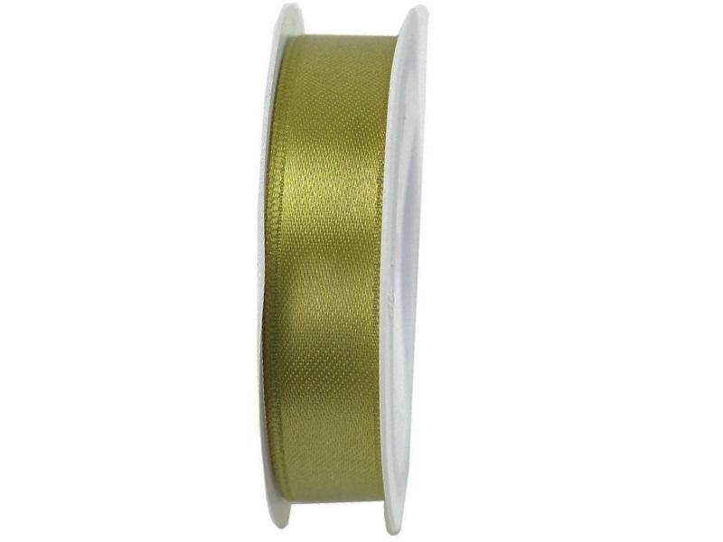 Satinband - Dekoband Geschenkband - Länge 25m x 15mm Oliv