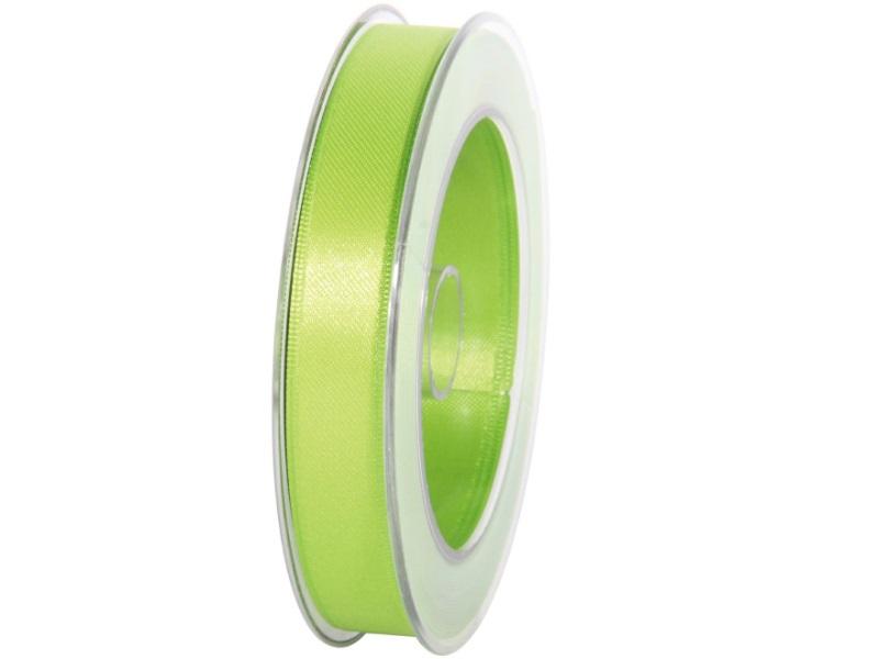 Satinband - Dekoband Geschenkband - Länge 25m x 15mm Apfelgrün