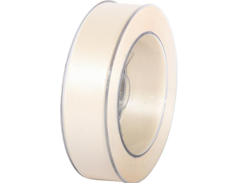 Satinband - Dekoband Geschenkband - Länge 25m x 25mm Creme