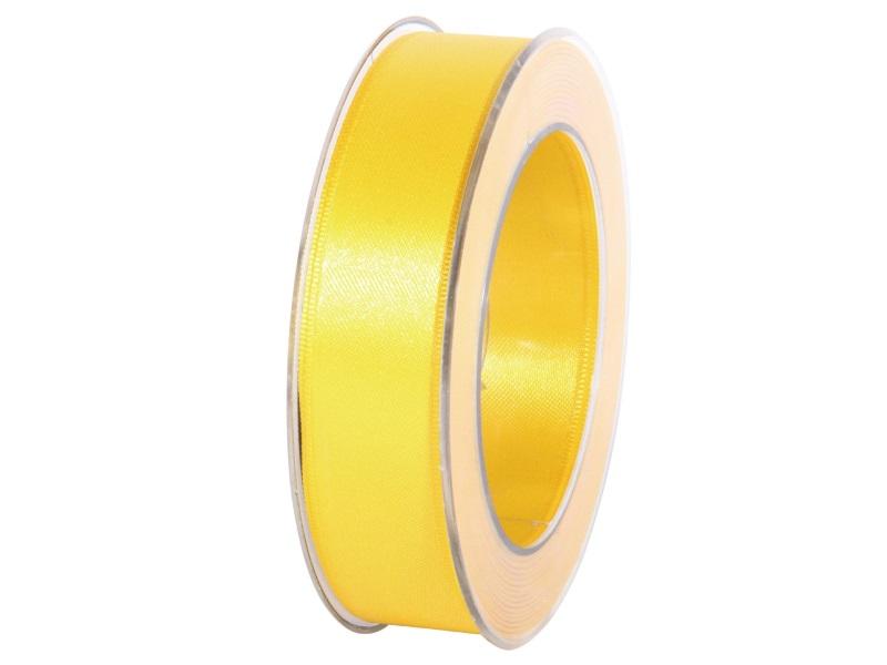 Satinband - Dekoband Geschenkband - Länge 25m x 25mm Gelb