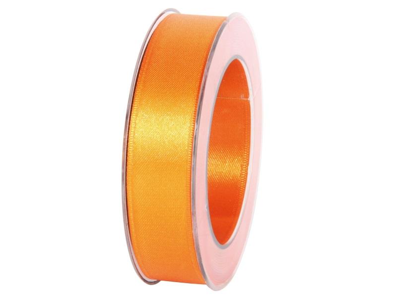 Satinband - Dekoband Geschenkband - Länge 25m x 25mm Orange