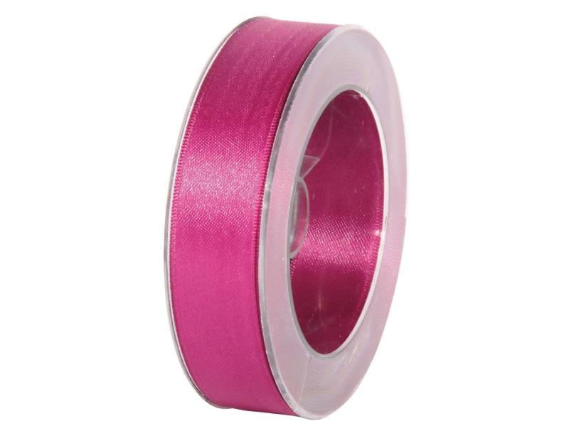Satinband - Dekoband Geschenkband - Länge 25m x 25mm Fuchsia