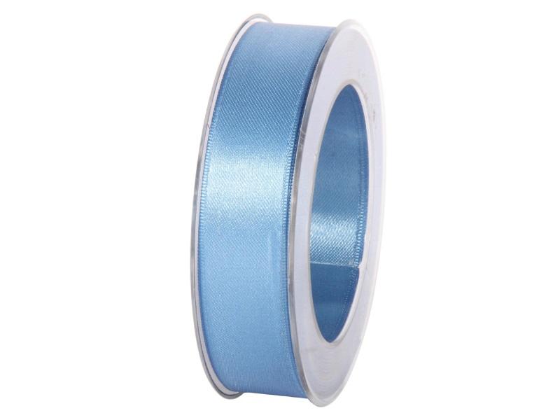 Satinband - Dekoband Geschenkband - Länge 25m x 25mm Blau