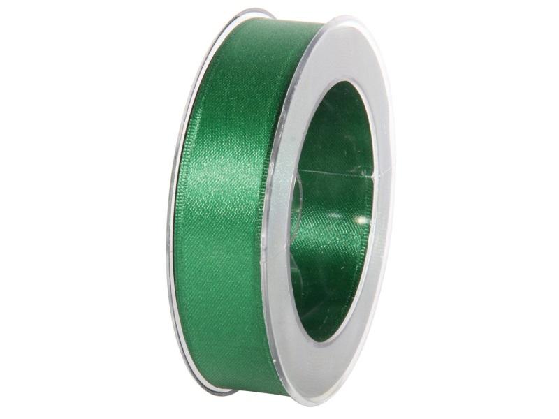 Satinband - Dekoband Geschenkband - Länge 25m x 25mm Dunkelgrün