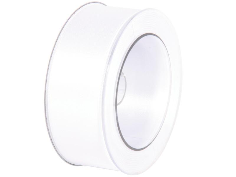 Satinband - Dekoband Geschenkband - Länge 25m x 40mm Weiss