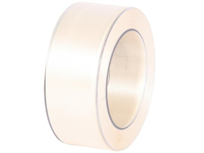 Satinband - Dekoband Geschenkband - Länge 25m x 40mm Creme