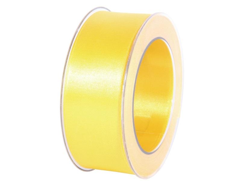 Satinband - Dekoband Geschenkband - Länge 25m x 40mm Gelb