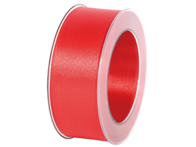 Satinband - Dekoband Geschenkband - Länge 25m x 40mm Rot