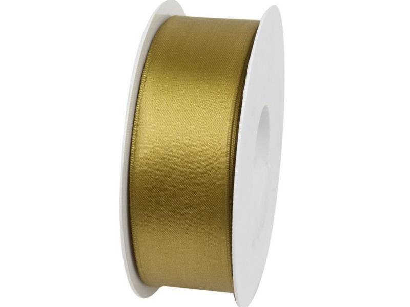 Satinband - Dekoband Geschenkband - Länge 25m x 40mm Olivgrün
