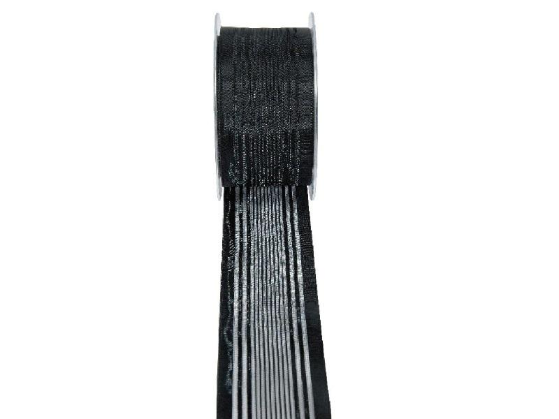 Florband - Schleifenband Trauerschleife Dekoband  (25m x 50mm - Schwarz)