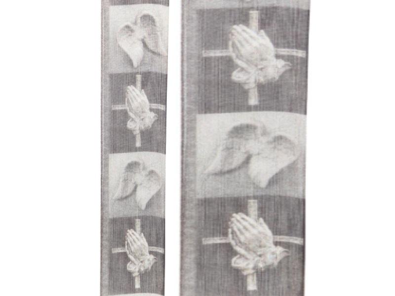 Trauerband - Schleifenband Trauerschleife - Beerdigung (15m x 40mm - Motivband Erinnerung)