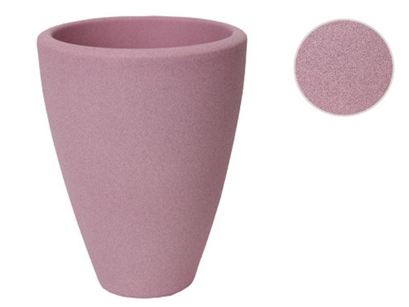 """Übertopf """"STRUKTUR"""" aus Keramik  (Ø 13 cm, Pink)"""