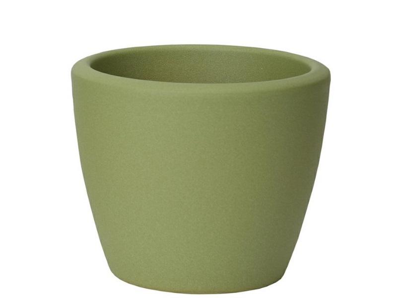 """Übertopf """"STRUKTUR"""" aus Keramik  (Ø 15 cm, Grün)"""