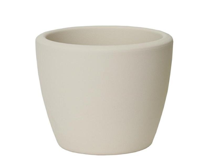 """Übertopf """"STRUKTUR"""" aus Keramik  (Ø 15 cm, Panna)"""