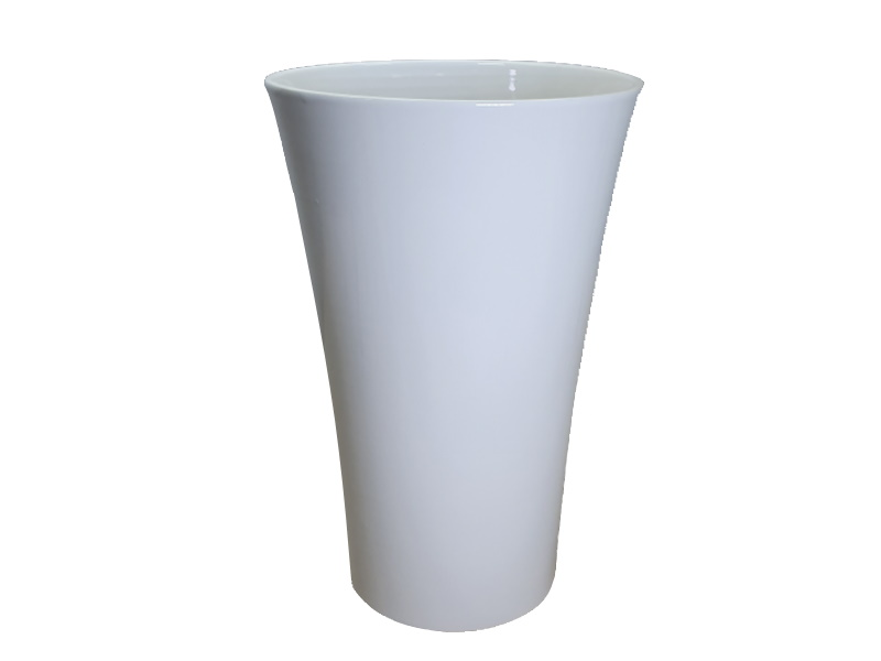"Vase ""BRUG"" Weiss aus Keramik  (Ø 16 cm x Höhe 25 cm)"