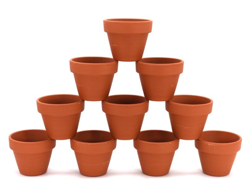 10er-Set Tontöpfe - Blumentöpfe - ca. Höhe 6 cm x Ø 6 cm