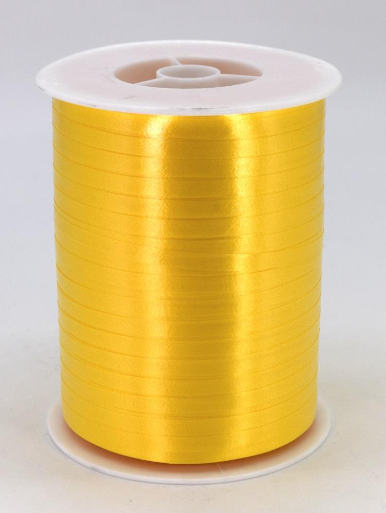 Geschenkband Ringelband Kräuselband 5mm x 500m Farbe Gelb