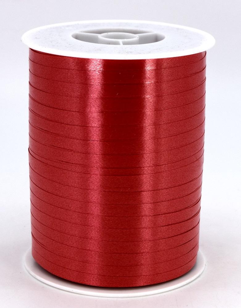 Geschenkband Ringelband Kräuselband 5mm x 500m Farbe Rot