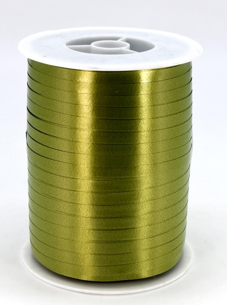 Geschenkband Ringelband Kräuselband 5mm x 500m Farbe Olive