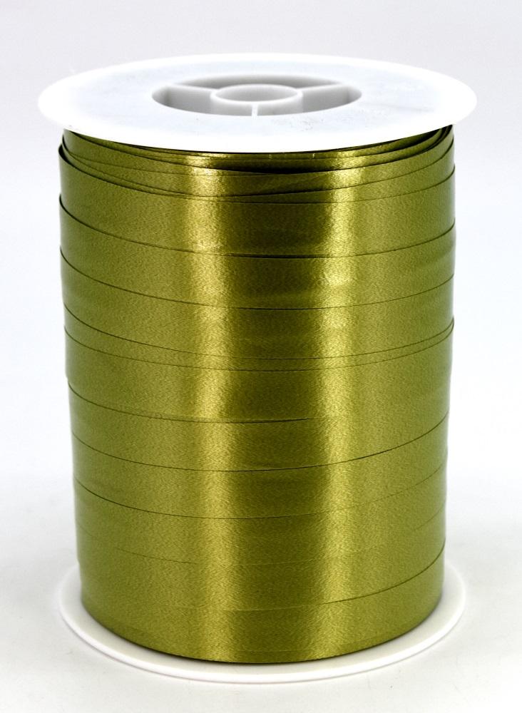 Geschenkband Ringelband Kräuselband 10mm x 250m Farbe Olive