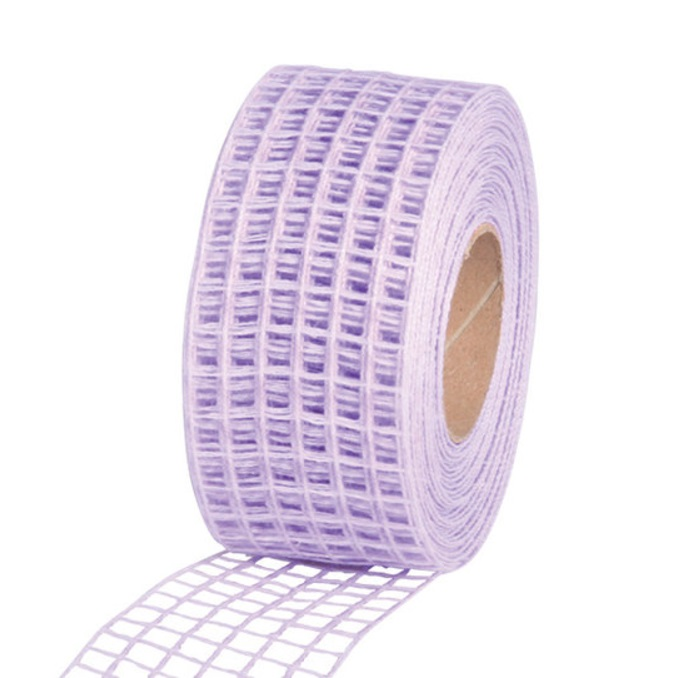 Gitterband 10mx4,5cm Juteband Schleifenband Geschenkband Farbe Flieder