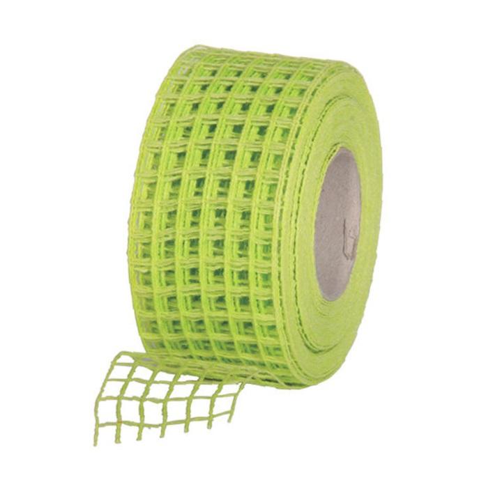 Gitterband 10mx4,5cm Juteband Schleifenband Geschenkband Farbe Apfelgrün