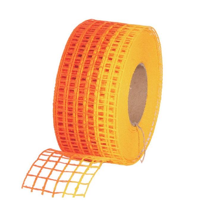 Gitterband 10mx4,5cm Juteband Schleifenband Geschenkband Farbe Orange-Gelb