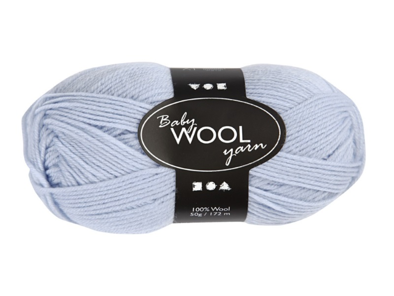 Babywolle - Extraweich - 100% austral. Merinowolle- Länge 172m - 50g - Hellblau