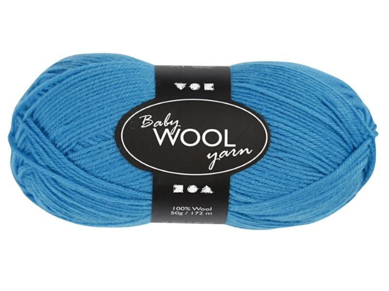 Babywolle - Extraweich - 100% austral. Merinowolle- Länge 172m - 50g - Meerblau