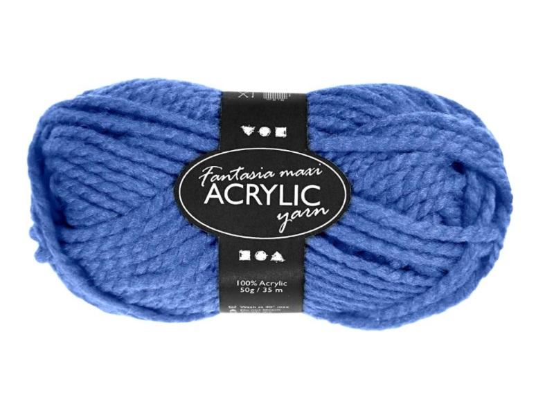 Fantasia Maxi 100% Polyacryl Wolle - 2-fädige Wolle - Länge 35m - 50g - Blau