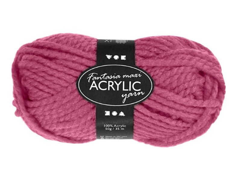 Fantasia Maxi 100% Polyacryl Wolle - 2-fädige Wolle - Länge 35m - 50g - Rosé