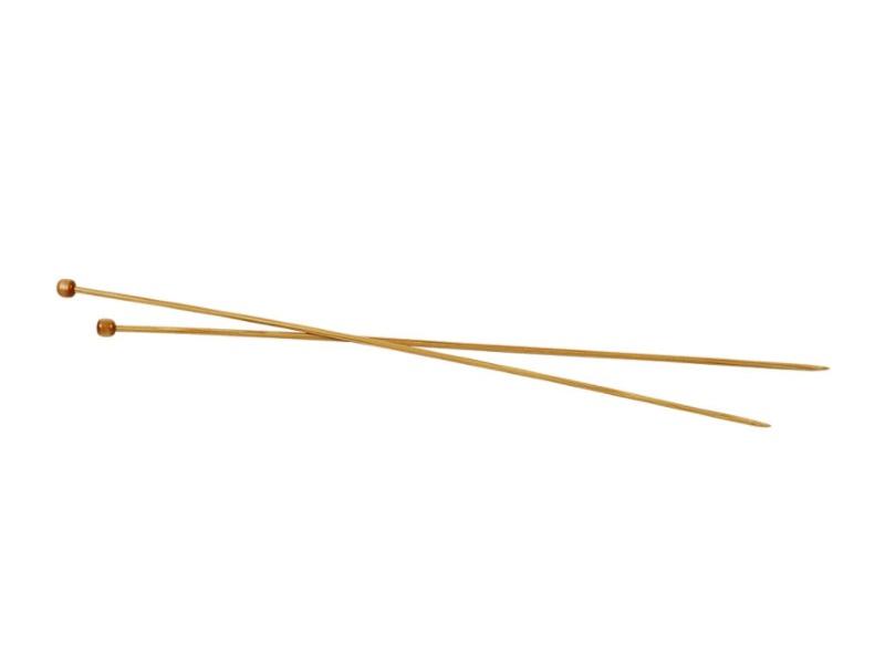 Stricknadel aus weichem Bambus - Länge 35cm -1Paar - Var. Nr. 3