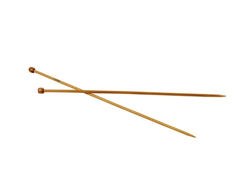 Stricknadel aus weichem Bambus - Länge 35cm -1Paar - Var. Nr. 5,0