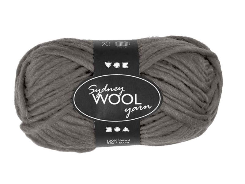Sydney Wolle - 100 % austral. Deluxe Wolle - Länge 50m - 50g -  Grau