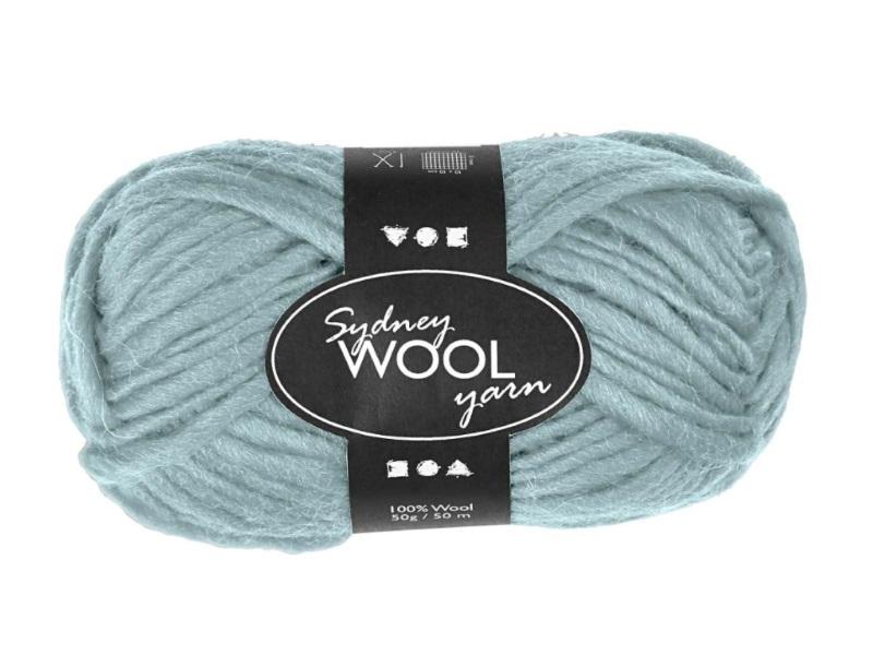 Sydney Wolle - 100 % austral. Deluxe Wolle - Länge 50m - 50g -  Mint Grün