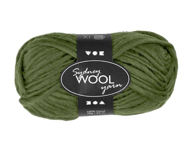 Sydney Wolle - 100 % austral. Deluxe Wolle - Länge 50m - 50g -  Grün