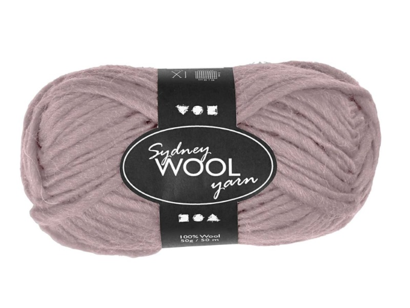 Sydney Wolle - 100 % austral. Deluxe Wolle - Länge 50m - 50g -  Rosa