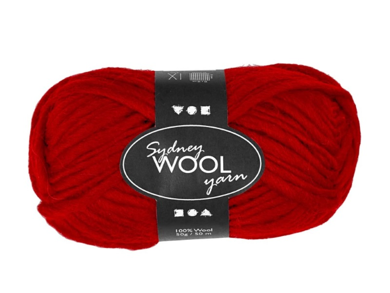Sydney Wolle - 100 % austral. Deluxe Wolle - Länge 50m - 50g -  Rot