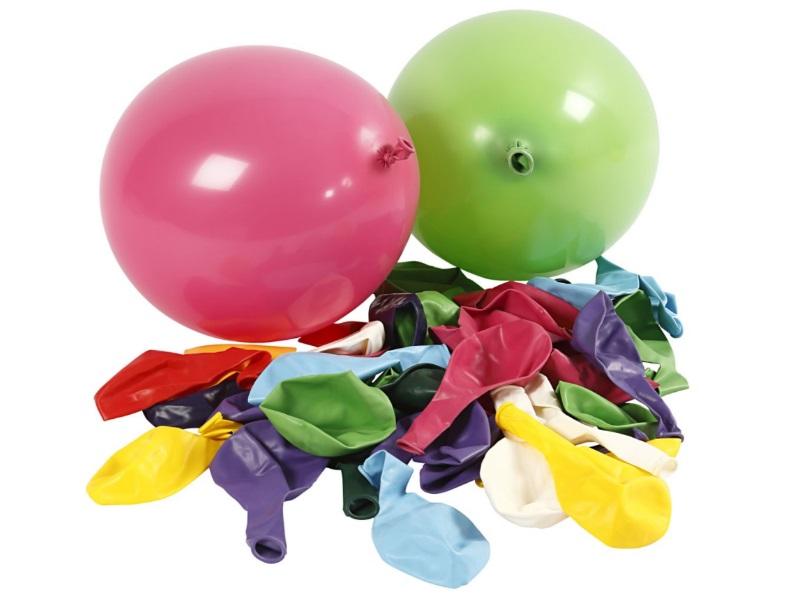 100 Luftballons Ballons gemischt - geeignet für Helium-Befüllung