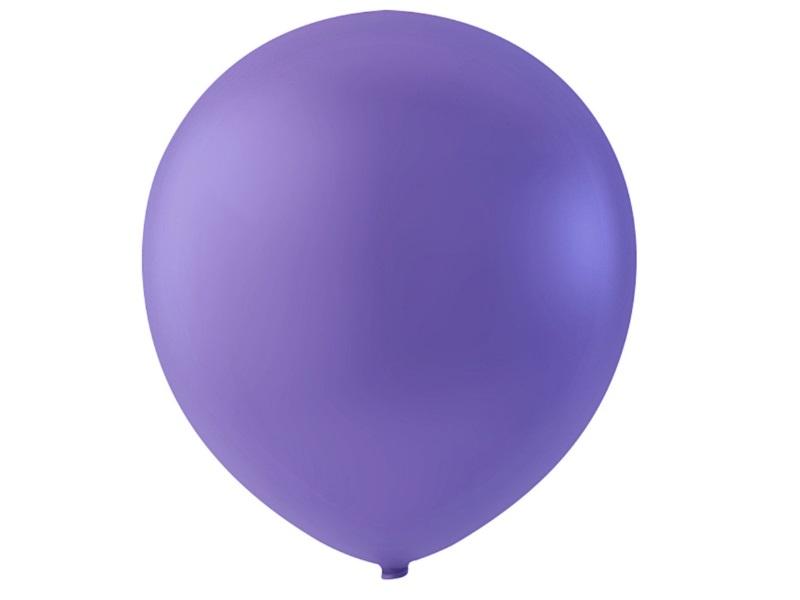 20 Luftballons - Ø 23cm Rund aus Naturgummi  - für Helium-Befüllung - Lila