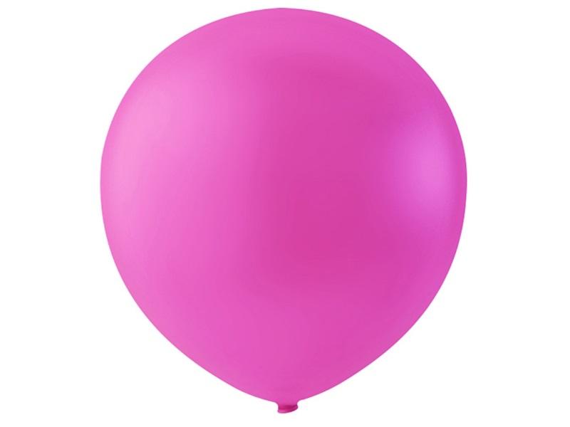 20 Luftballons - Ø 23cm Rund aus Naturgummi  - für Helium-Befüllung - Dunkelpink
